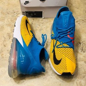 Nike Air Max 270 Laser Orange Orbit Blue Men's 11